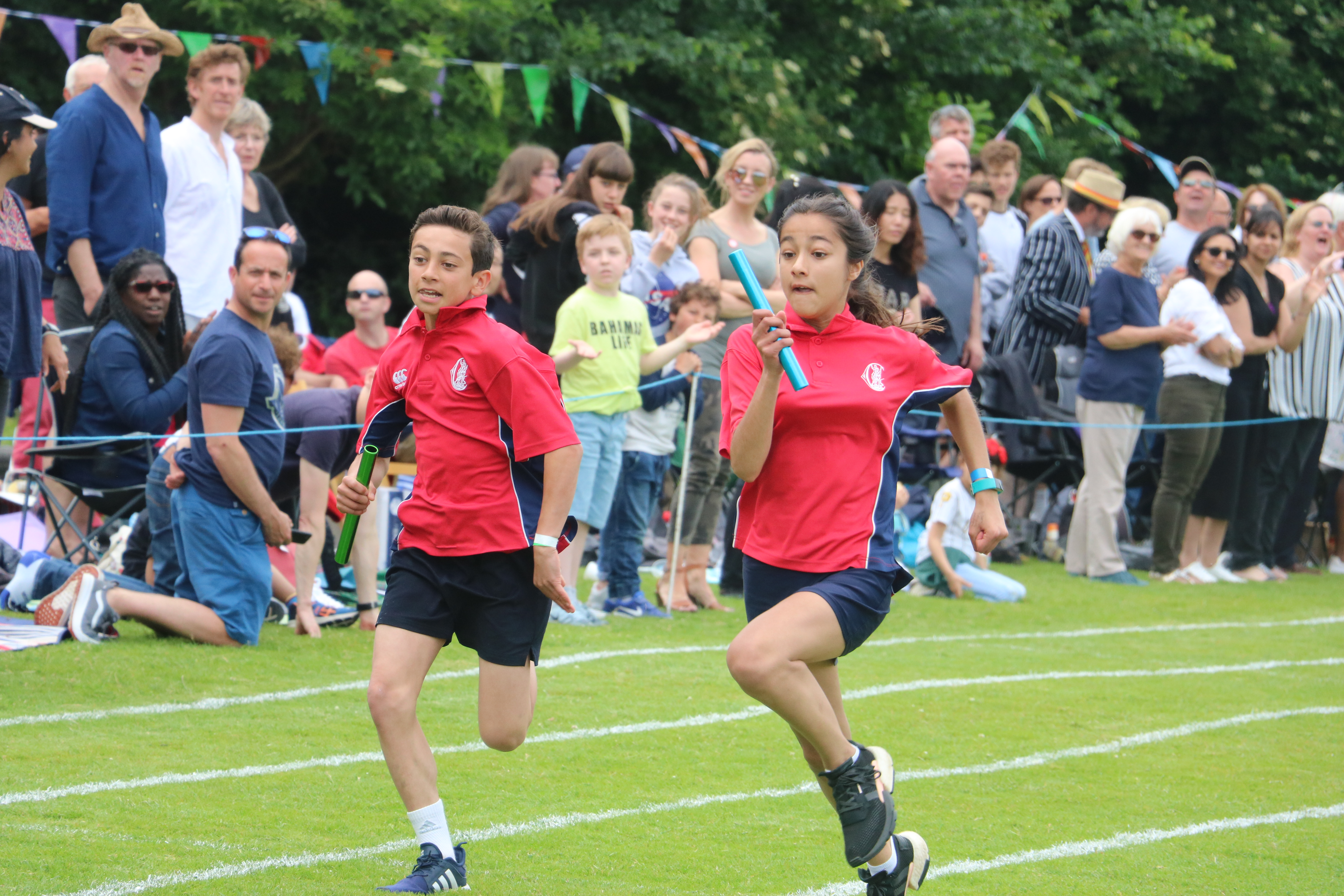 The fiercely contested House Relay at Sports Day