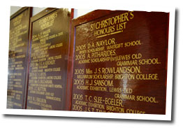 Photo of St Christopher's Honours Lists