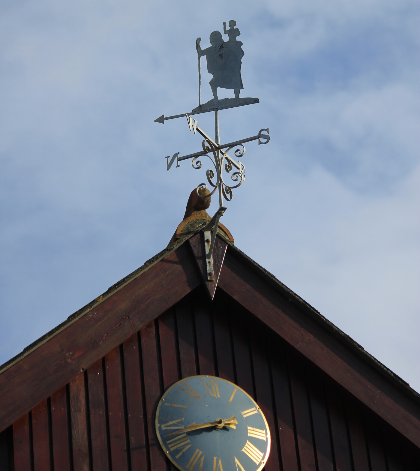 The weathervane above the school clock, named Old Sir after former Headmaster, Maurice Saunders